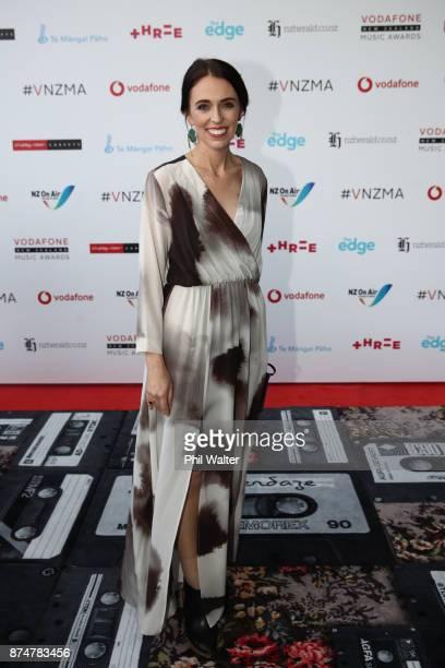 Prime Minister Jacinda Ardern arrives for the 2017 Vodafone New Zealand Music Awards on November 16 2017 in Auckland New Zealand