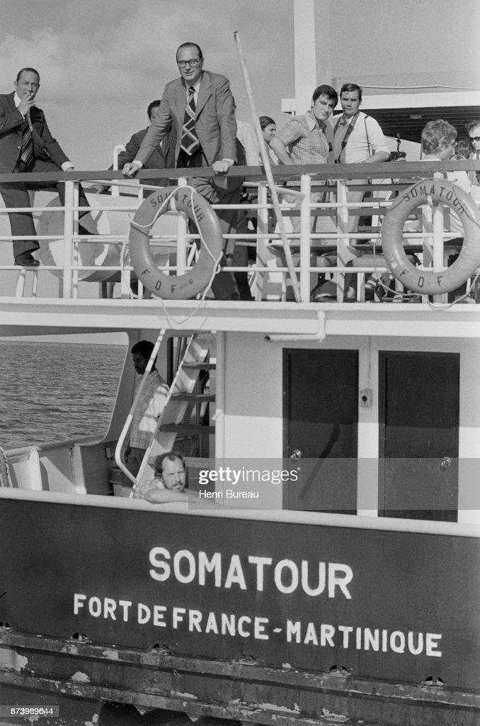Prime Minister Jacques Chirac in Fort-de-France, Martinique, 23d December 1975