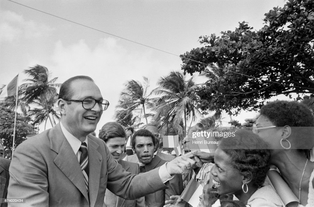 Prime Minister Jacques Chirac visiting the Caribbean, December 1975
