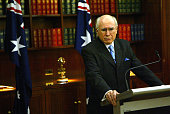 Prime Minister John Howard at a press conference in Sydney where he announced that he has been called upon to submit a report to the food for oil...