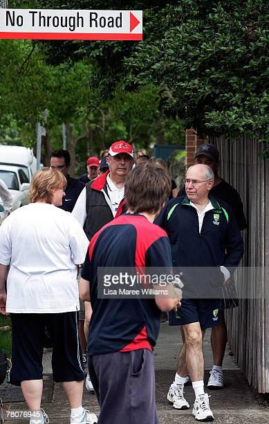 Prime Minister John Howard walks in Kirribilli on federal election day November 24 2007 in Sydney Australia More than 135 millions Australians are...