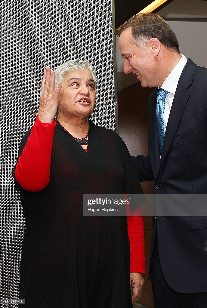 prime minister key r and maori co leader