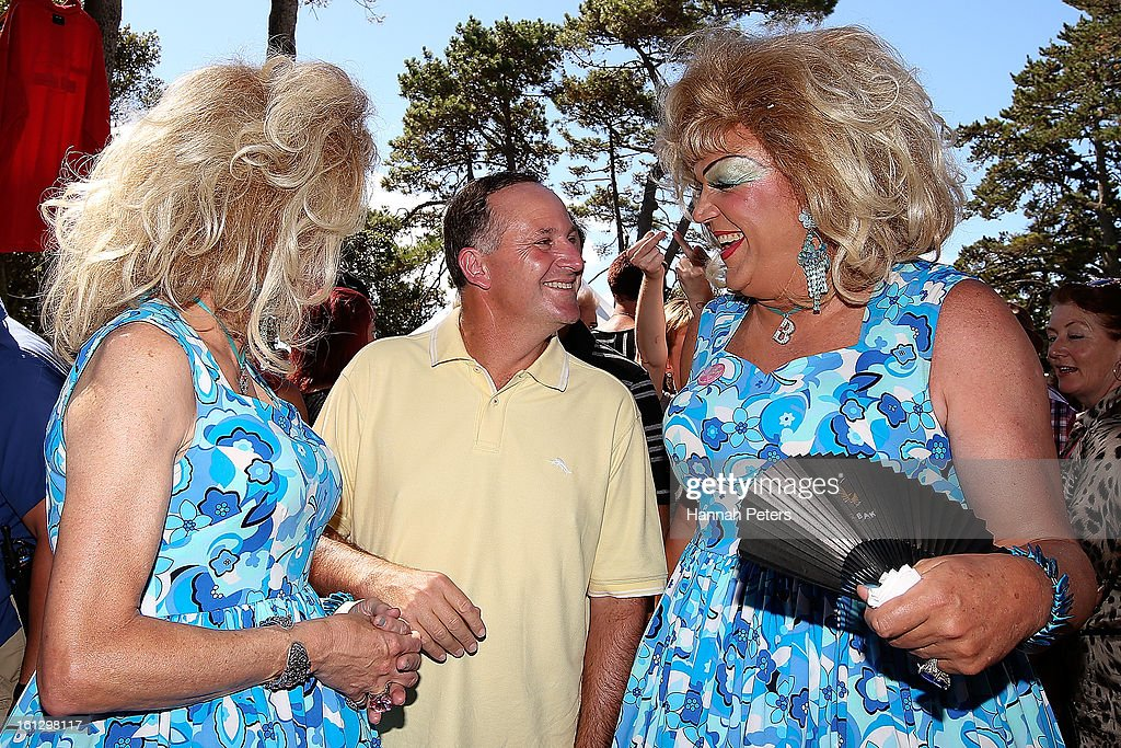 Prime Minister <a gi-track='captionPersonalityLinkClicked' href=/galleries/search?phrase=John+Key&family=editorial&specificpeople=2246670 ng-click='$event.stopPropagation()'>John Key</a> meets members of the public at the Big Gay Out at Coyle Park on February 10, 2013 in Auckland, New Zealand. Big Gay Out is the largest annual gay and lesbian festival in New Zealand.