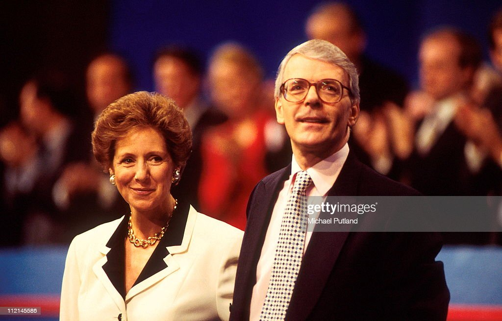 UK Prime Minister John Major with his wife Norma at the Conservative Party Conference 1995