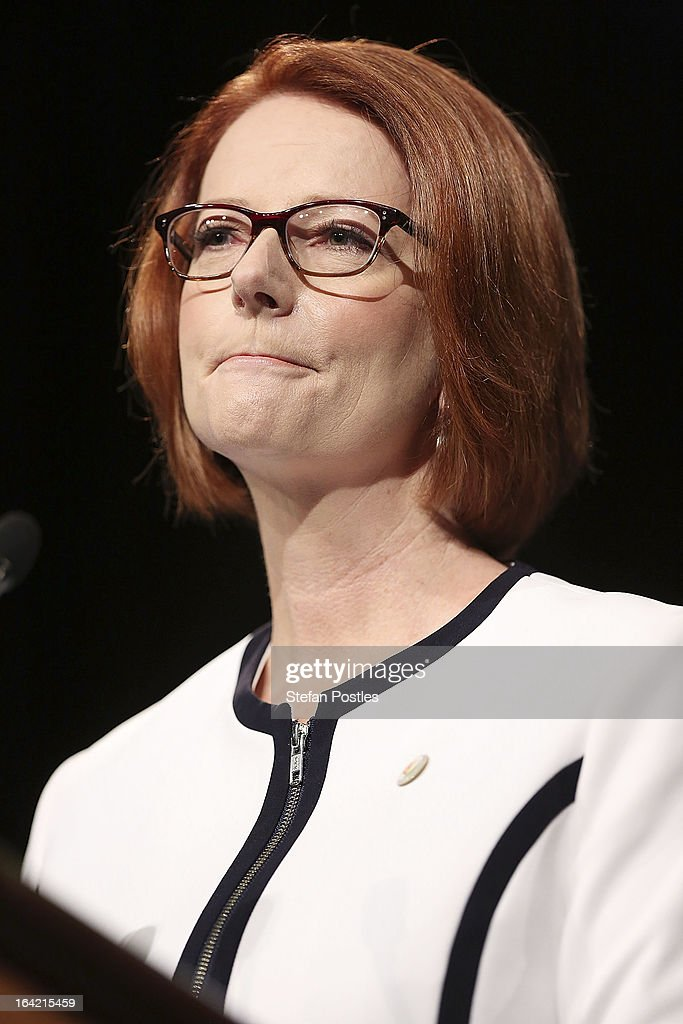 Prime Minister <a gi-track='captionPersonalityLinkClicked' href=/galleries/search?phrase=Julia+Gillard&family=editorial&specificpeople=787281 ng-click='$event.stopPropagation()'>Julia Gillard</a> delivers the National Apology on Forced Adoption in the Great Hall at Parliament House, Canberra. More than 800 people were affected by the practice of forced adoption from the 1950s to 1970s.