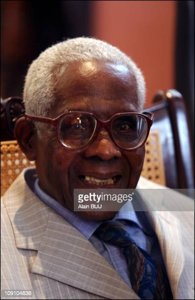 Prime Minister Lionel Jospin Visits Martinique Island On March 31Th 2002 In FortDeFrance Aime Cesaire