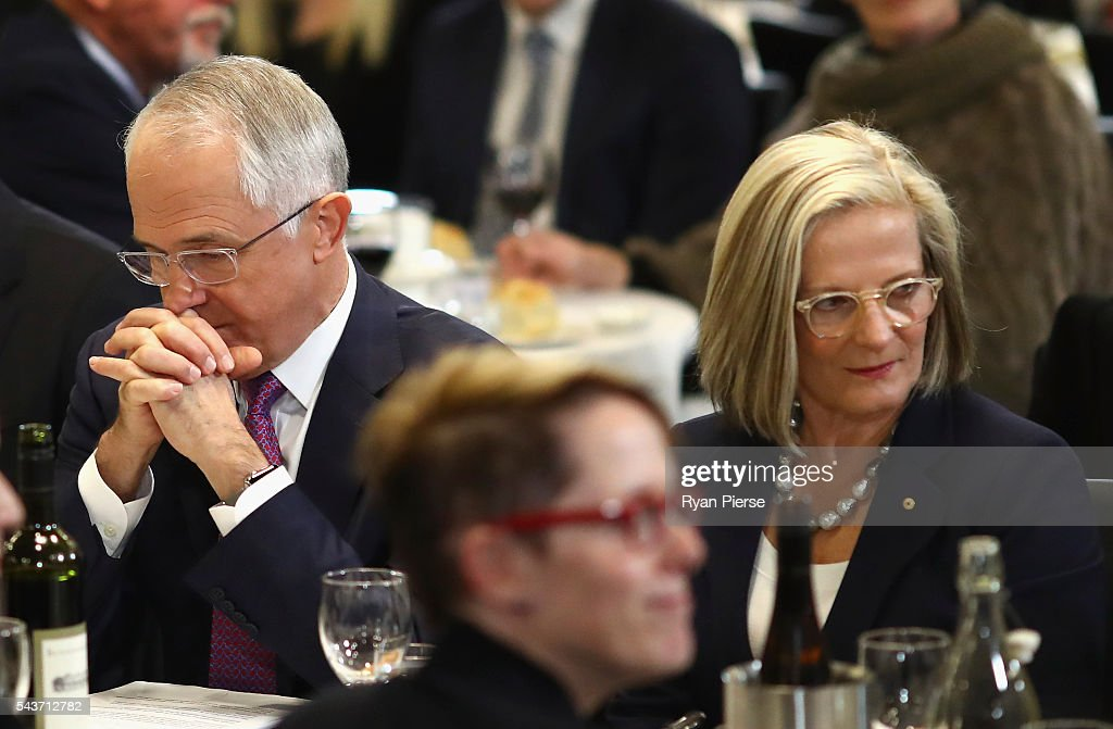 Prime Minister <a gi-track='captionPersonalityLinkClicked' href=/galleries/search?phrase=Malcolm+Turnbull&family=editorial&specificpeople=2125595 ng-click='$event.stopPropagation()'>Malcolm Turnbull</a> and his wife <a gi-track='captionPersonalityLinkClicked' href=/galleries/search?phrase=Lucy+Turnbull&family=editorial&specificpeople=240445 ng-click='$event.stopPropagation()'>Lucy Turnbull</a> arrive to deliver his election address to the National Press Club on June 30, 2016 in Canberra, Australia. The Prime Minister's speech focused heavily on the economy, with <a gi-track='captionPersonalityLinkClicked' href=/galleries/search?phrase=Malcolm+Turnbull&family=editorial&specificpeople=2125595 ng-click='$event.stopPropagation()'>Malcolm Turnbull</a> committing to stick to the Government's economic plan, grow the economy and create jobs should he win the election on Saturday July 2.
