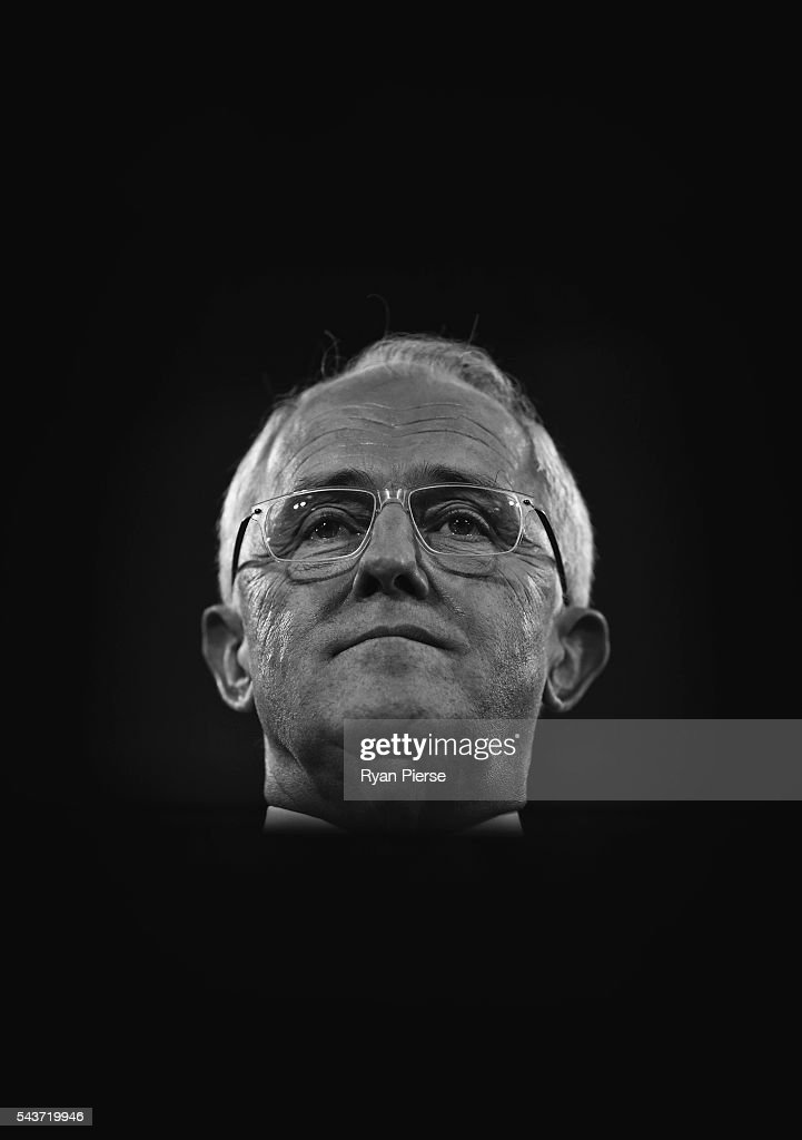 This image was processed using digital filters) Prime Minister <a gi-track='captionPersonalityLinkClicked' href=/galleries/search?phrase=Malcolm+Turnbull&family=editorial&specificpeople=2125595 ng-click='$event.stopPropagation()'>Malcolm Turnbull</a> delivers his election address to the National Press Club on June 30, 2016 in Canberra, Australia. The Prime Minister's speech focused heavily on the economy, with <a gi-track='captionPersonalityLinkClicked' href=/galleries/search?phrase=Malcolm+Turnbull&family=editorial&specificpeople=2125595 ng-click='$event.stopPropagation()'>Malcolm Turnbull</a> committing to stick to the Government's economic plan, grow the economy and create jobs should he win the election on Saturday July 2.