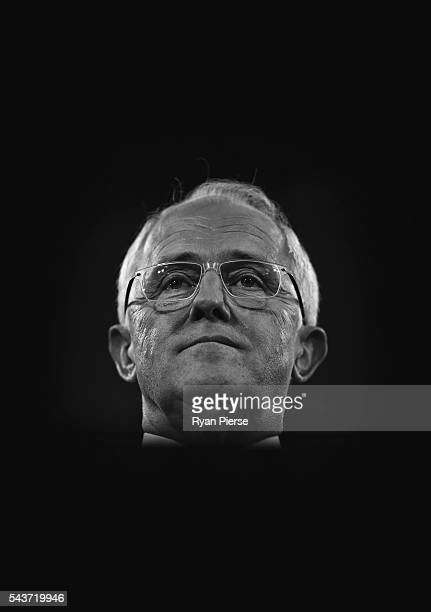 This image was processed using digital filters Prime Minister Malcolm Turnbull delivers his election address to the National Press Club on June 30...