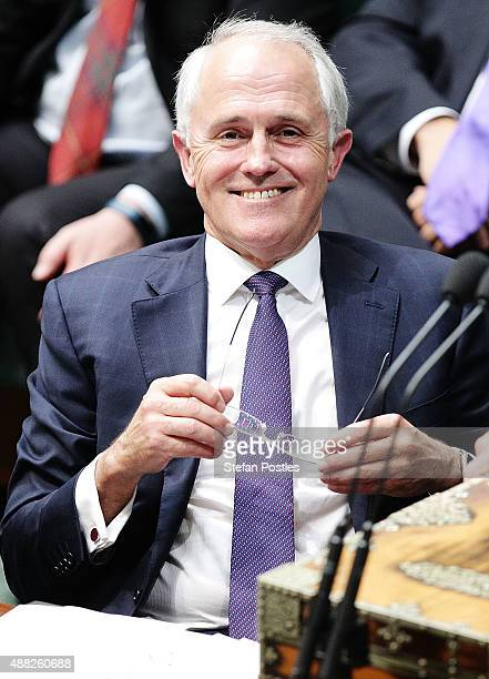Prime Minister Malcolm Turnbull during House of Representatives question time at Parliament House on September 15 2015 in Canberra Australia Malcolm...