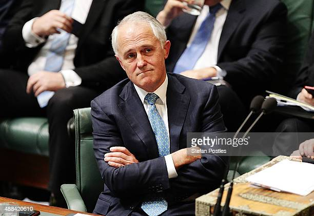 Prime Minister Malcolm Turnbull during House of Representatives question time at Parliament House on September 16 2015 in Canberra Australia Malcolm...