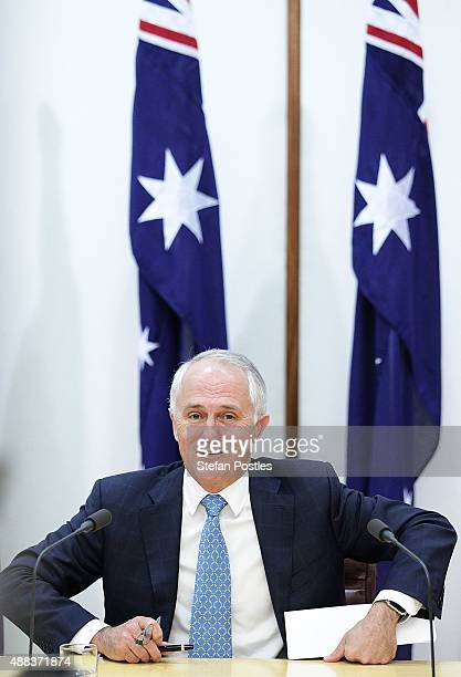Prime Minister Malcolm Turnbull during the signing of the National Disability Insurance Scheme at Parliament House on September 16 2015 in Canberra...