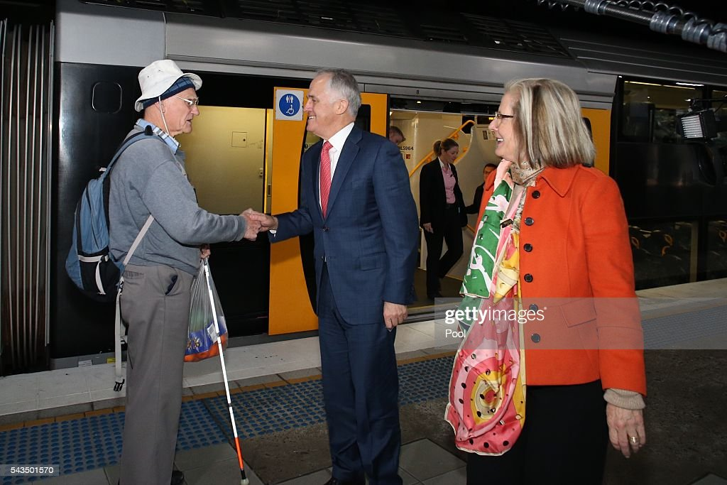 Prime Minister <a gi-track='captionPersonalityLinkClicked' href=/galleries/search?phrase=Malcolm+Turnbull&family=editorial&specificpeople=2125595 ng-click='$event.stopPropagation()'>Malcolm Turnbull</a> is met by an unhappy voter when he and <a gi-track='captionPersonalityLinkClicked' href=/galleries/search?phrase=Lucy+Turnbull&family=editorial&specificpeople=240445 ng-click='$event.stopPropagation()'>Lucy Turnbull</a> arrives at Hurstville Station as he campaigns in the electorate of Barton on June 29, 2016 in Sydney, Australia. The Liberal Party given $40,000 in campaign funds to charity after the party inappropriately used <a gi-track='captionPersonalityLinkClicked' href=/galleries/search?phrase=Lucy+Turnbull&family=editorial&specificpeople=240445 ng-click='$event.stopPropagation()'>Lucy Turnbull</a>'s position as the head of a NSW Government planning body to promote two fundraisers in Sydney. Mrs Turnbull believed she had been invited as the Prime Minister's wife.