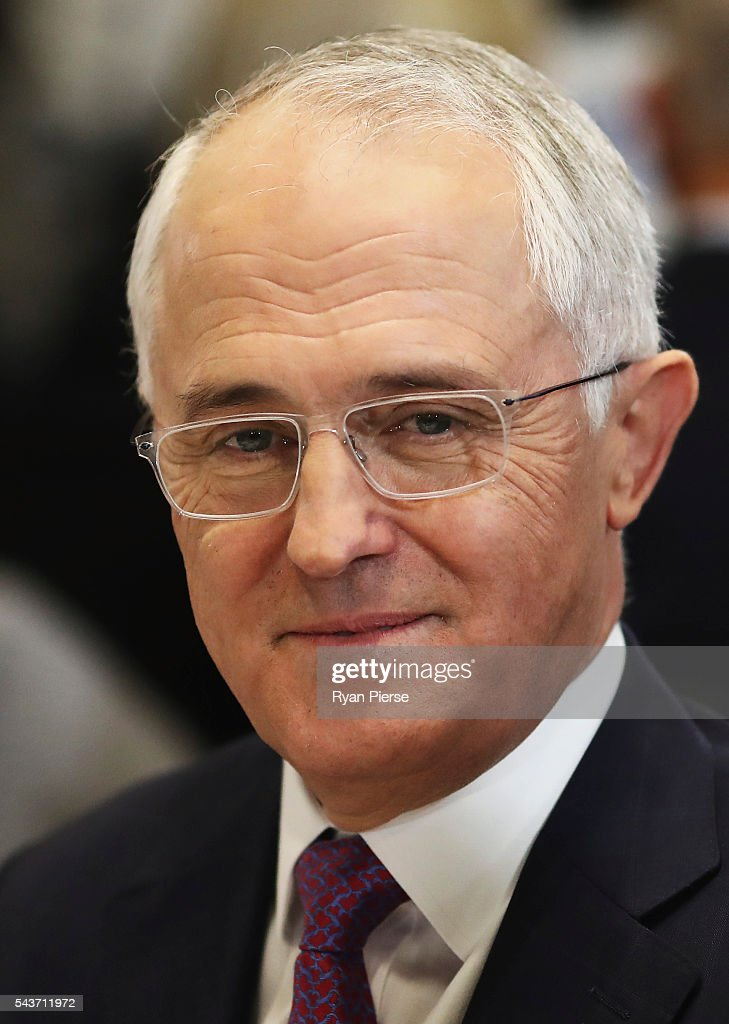 Prime Minister <a gi-track='captionPersonalityLinkClicked' href=/galleries/search?phrase=Malcolm+Turnbull&family=editorial&specificpeople=2125595 ng-click='$event.stopPropagation()'>Malcolm Turnbull</a> looks on before he delivers his election address to the National Press Club on June 30, 2016 in Canberra, Australia. The Prime Minister's speech focused heavily on the economy, with <a gi-track='captionPersonalityLinkClicked' href=/galleries/search?phrase=Malcolm+Turnbull&family=editorial&specificpeople=2125595 ng-click='$event.stopPropagation()'>Malcolm Turnbull</a> committing to stick to the Government's economic plan, grow the economy and create jobs should he win the election on Saturday July 2.