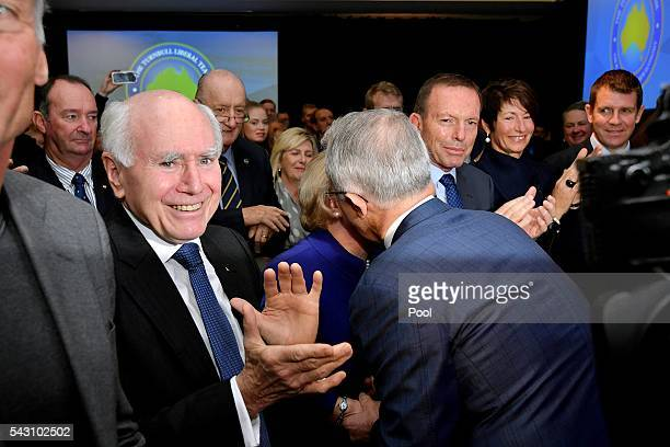 Prime Minister Malcolm Turnbull officially launches the Liberal 2016 Federal Campaign with wife Lucy and Liberal party members Julie Bishop Treasurer...