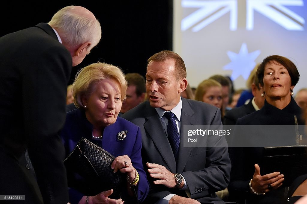 Prime Minister Malcolm Turnbull officially launches the Liberal 2016 Federal Campaign with wife Lucy and Liberal party members Julie Bishop, Treasurer Scott Morrison, Barnaby Joyce as well as ex PMs Tony Abbott and John Howard at Homebush Novotel.
