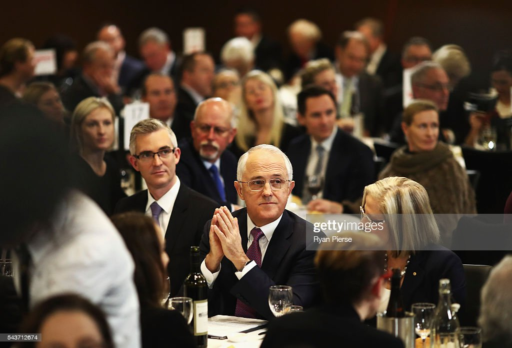 Prime Minister <a gi-track='captionPersonalityLinkClicked' href=/galleries/search?phrase=Malcolm+Turnbull&family=editorial&specificpeople=2125595 ng-click='$event.stopPropagation()'>Malcolm Turnbull</a> prepares to deliver his election address to the National Press Club on June 30, 2016 in Canberra, Australia. The Prime Minister's speech focused heavily on the economy, with <a gi-track='captionPersonalityLinkClicked' href=/galleries/search?phrase=Malcolm+Turnbull&family=editorial&specificpeople=2125595 ng-click='$event.stopPropagation()'>Malcolm Turnbull</a> committing to stick to the Government's economic plan, grow the economy and create jobs should he win the election on Saturday July 2.