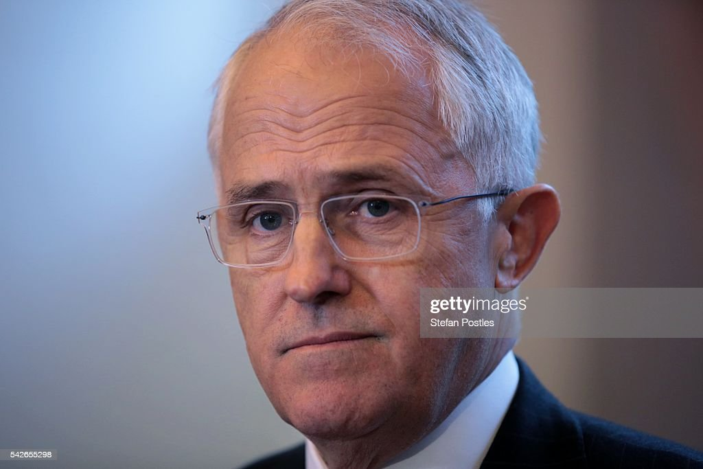 Prime Minister Malcolm Turnbull speaks at a doorstop during a visit to Design Centre Tasmania on June 24, 2016 in Launceston, Australia. Prime Minister Turnbull announced the Coalitions plans to invest A$150 million into expanding the University of Tasmania's campuses in Launceston and Burnie, as well as to contribute to an additional A$7.5 million to the Launceston City Heart Project.