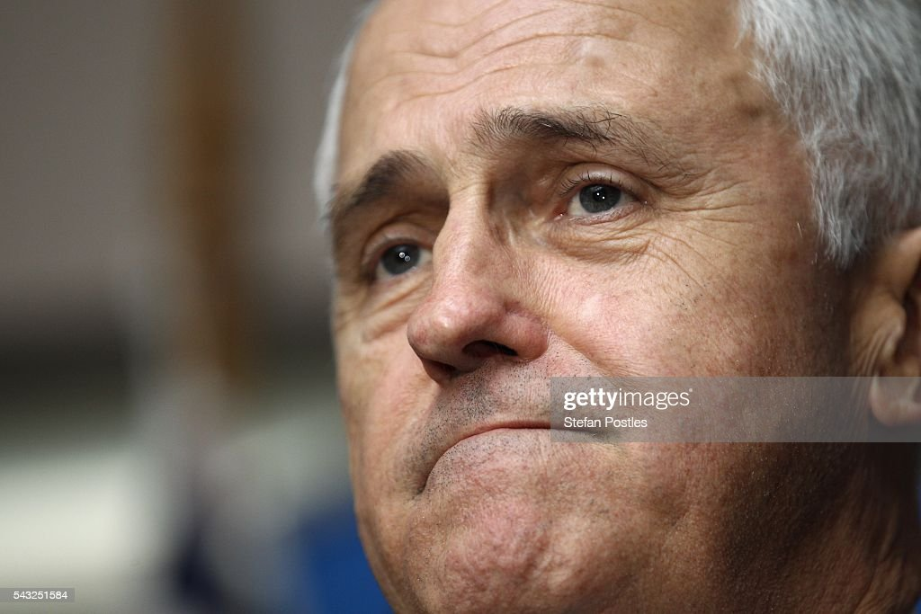 Prime Minister <a gi-track='captionPersonalityLinkClicked' href=/galleries/search?phrase=Malcolm+Turnbull&family=editorial&specificpeople=2125595 ng-click='$event.stopPropagation()'>Malcolm Turnbull</a> speaks at the Glenelg Surf Life Saving Club on June 27, 2016 in Adelaide, Australia. The Prime Minister opened defence contractor Raytheon's new naval and integration headquarters.