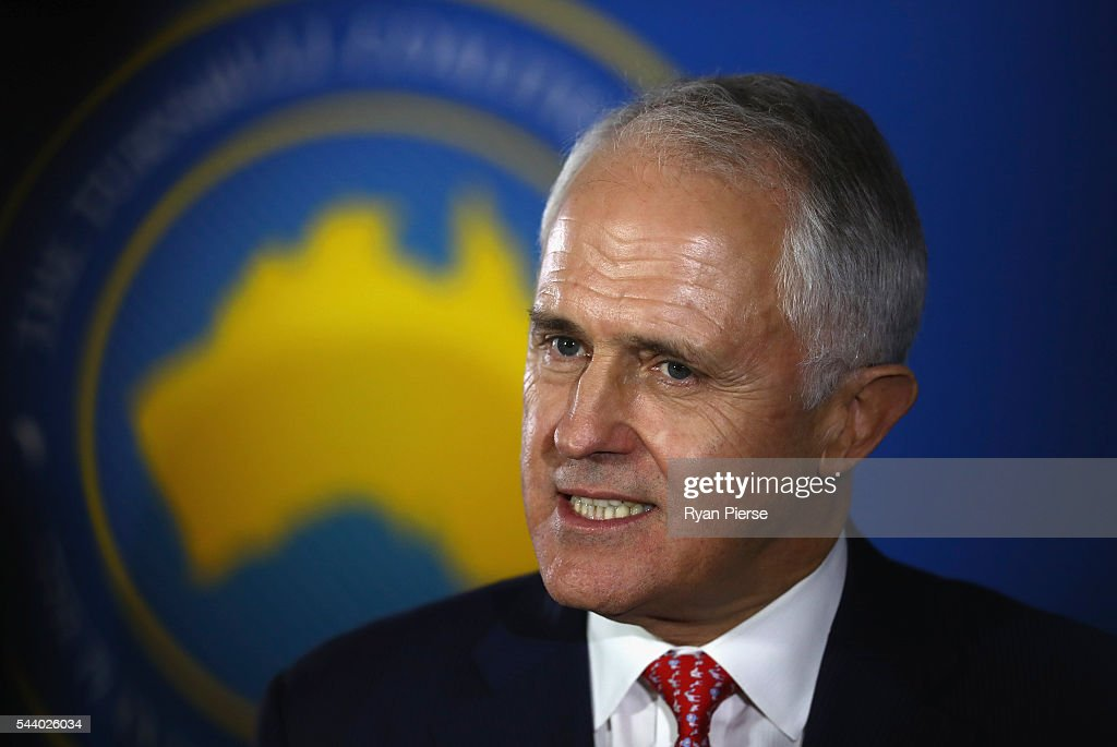 Prime Minister <a gi-track='captionPersonalityLinkClicked' href=/galleries/search?phrase=Malcolm+Turnbull&family=editorial&specificpeople=2125595 ng-click='$event.stopPropagation()'>Malcolm Turnbull</a> speaks during a press conference at the Sofitel Wentworth on July 1, 2016 in Sydney, Australia.