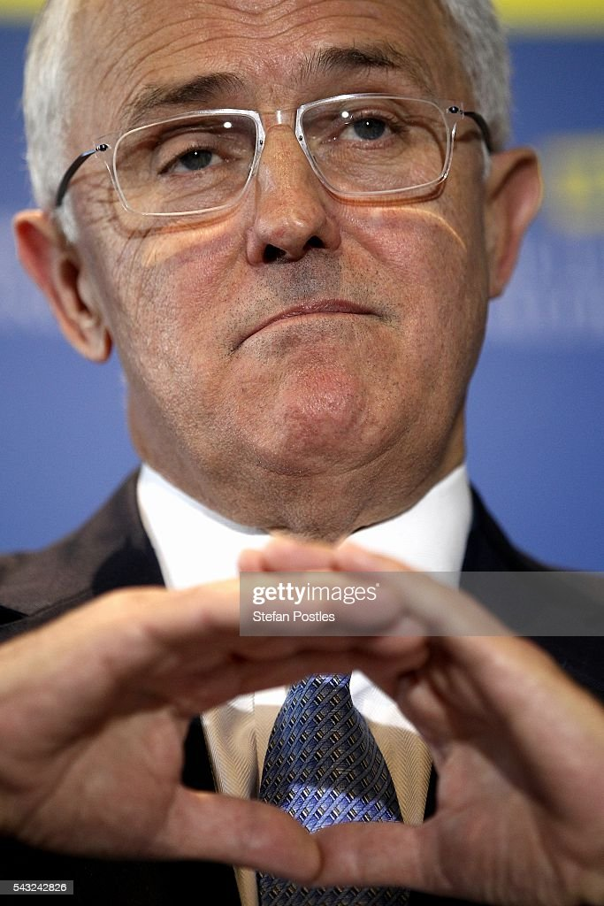 Prime Minister <a gi-track='captionPersonalityLinkClicked' href=/galleries/search?phrase=Malcolm+Turnbull&family=editorial&specificpeople=2125595 ng-click='$event.stopPropagation()'>Malcolm Turnbull</a> speaks to the media during a doorstop on June 27, 2016 in Adelaide, Australia. The Prime Minister opened defence contractor Raytheon's new naval and integration headquarters.