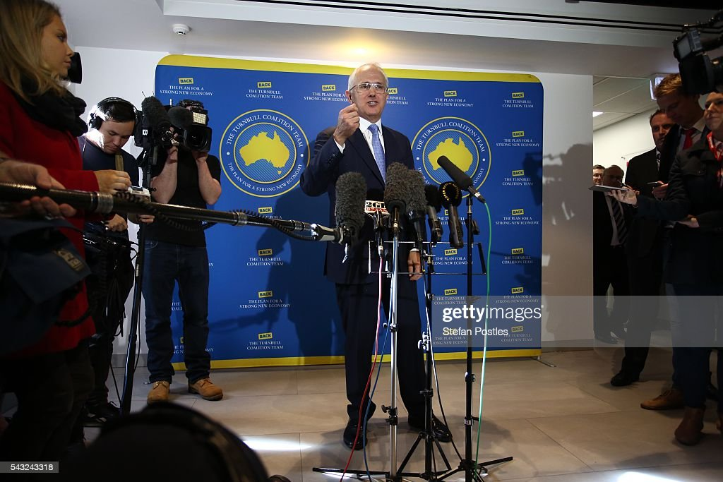 Prime Minister Malcolm Turnbull speaks to the media during a doorstop on June 27, 2016 in Adelaide, Australia. The Prime Minister opened defence contractor Raytheon's new naval and integration headquarters.