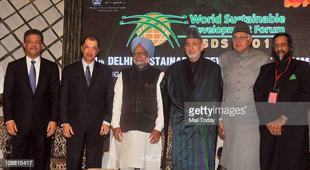 Prime Minister Manmohan Singh Dominican Republic President Leonel Fernandez Afghanistan President Hamid Karzai Seychelles President James Alix Michel...