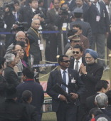 Prime Minister Manmohan Singh during the 65th Republic Day parade at Rajpath on January 26 2014 in New Delhi India India adopted its democratic...