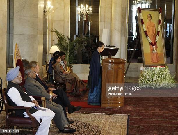 Prime Minister Manmohan Singh President of India Pranab Mukherjee Former President of Brazil Luiz Inacio Lula da Silva presented as Chairperson...