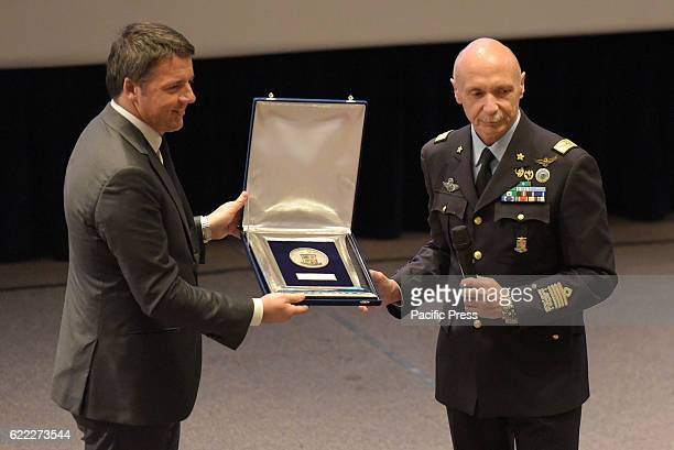 ACADEMY POZZUOLI NAPOLI ITALY Prime minister Matteo Renzi and The Chief of Staff Air Force Enzo Vecciarelli during ceremony of the inauguration of...