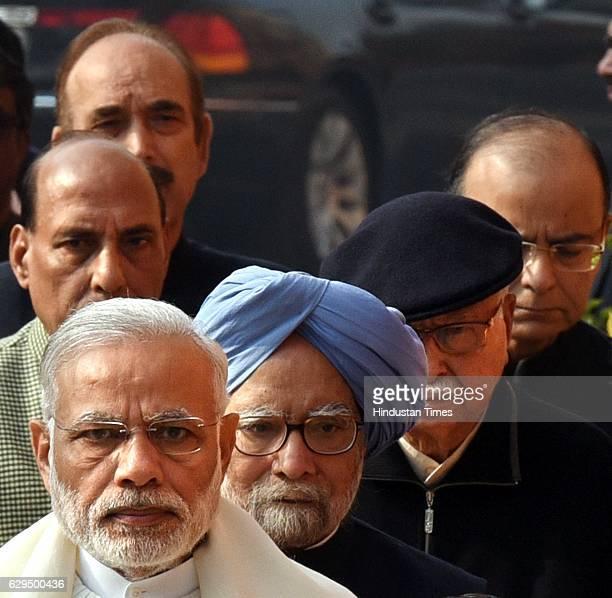Prime Minister Narender Modi former Prime Minister Manmohan Singh Sr BJP leader Lal Krishna Advani Union Home Minister Rajnath Singh Finance Minister...