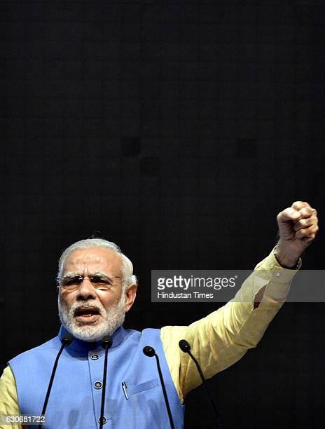 Prime Minister Narendra Modi addressing at the launch of a new mobile app 'BHIM' to encourage etransactions during the ''Digital Mela'' at Talkatora...