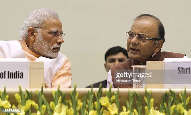 Prime Minister Narendra Modi and Finance Minister Arun Jaitley during a function to celebrate the elevation of Kuriakose Elias Chavara and Mother...