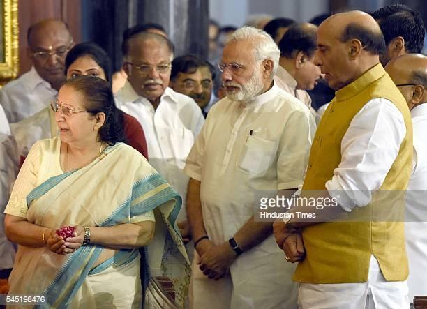 Prime Minister Narendra Modi Union Home Minister Rajnath Singh Lok Sabha Speaker Sumitra Mahajan New Minister of Parliamentary Affairs Ananth Kumar...
