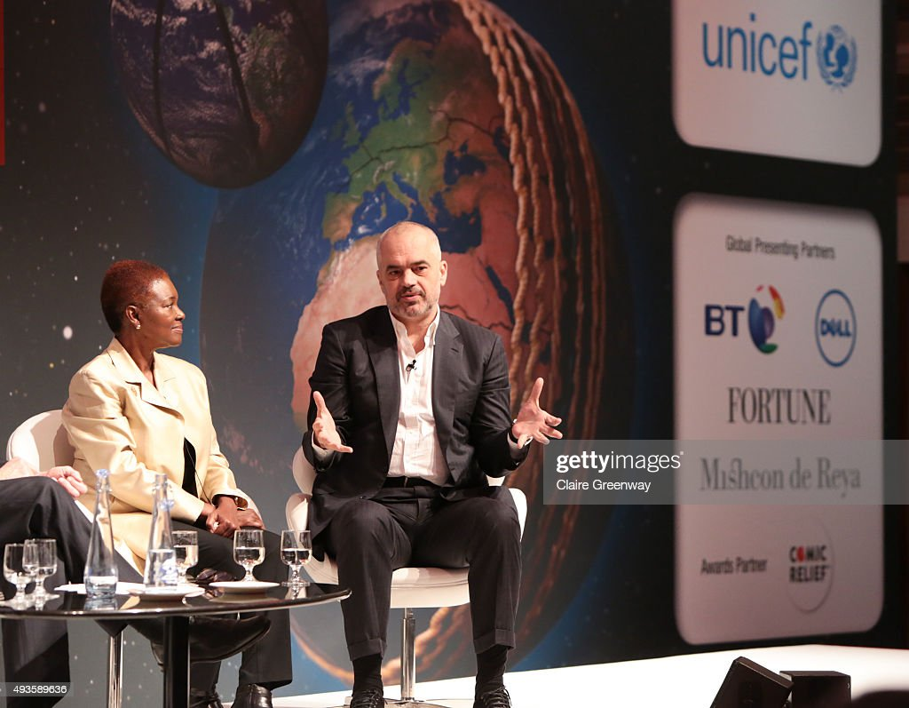 Prime Minister of Albania Edi Rama and Director of SOAS University London Baroness Amos take part in a panel discussion on how Sport has the power to...