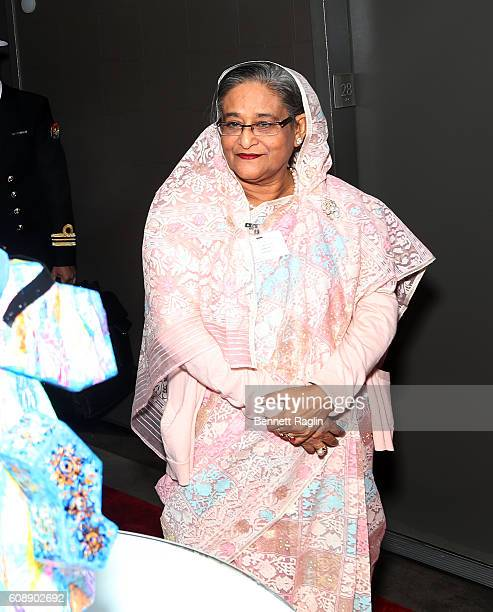 Prime Minister of Bangladesh Sheikh Hasina attends the United Nations Arts and Fashion reception on September 19 2016 in New York City