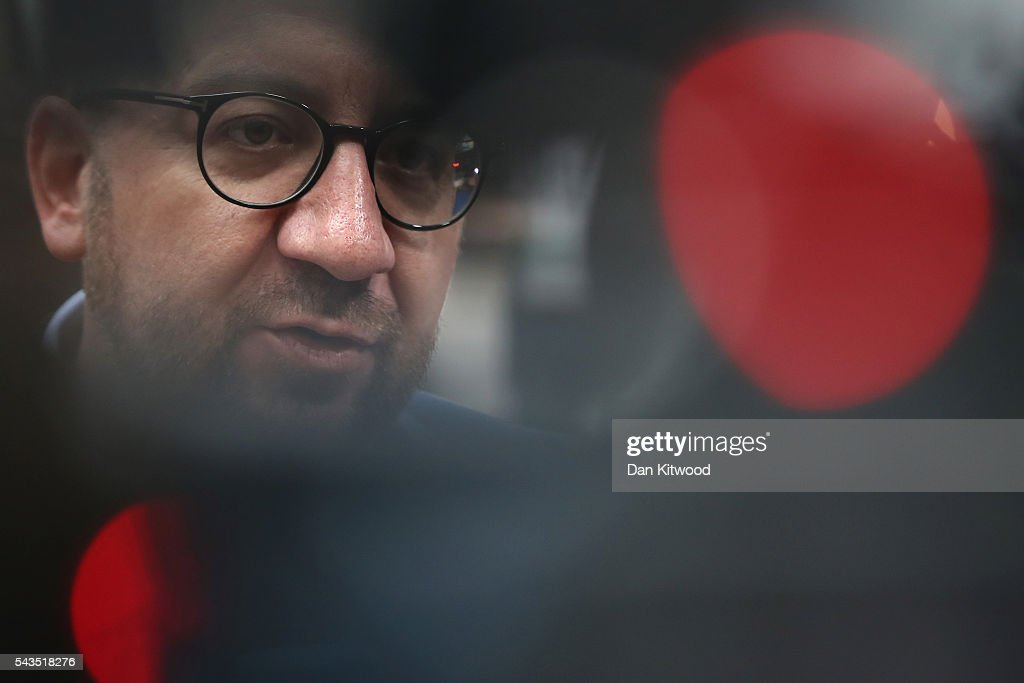 Prime Minister of Belgium, <a gi-track='captionPersonalityLinkClicked' href=/galleries/search?phrase=Charles+Michel+-+Politician&family=editorial&specificpeople=13722663 ng-click='$event.stopPropagation()'>Charles Michel</a> attends a second day of European Council meetings at the Council of the European Union building on June 29, 2016 in Brussels, Belgium. British Prime Minister David Cameron held talks with other EU leaders yesterday during his final scheduled meeting with the full European Council before standing down as Prime Minister. The meetings come at a time of economic and political uncertainty following the referendum result last week which saw the UK vote to leave the European Union.