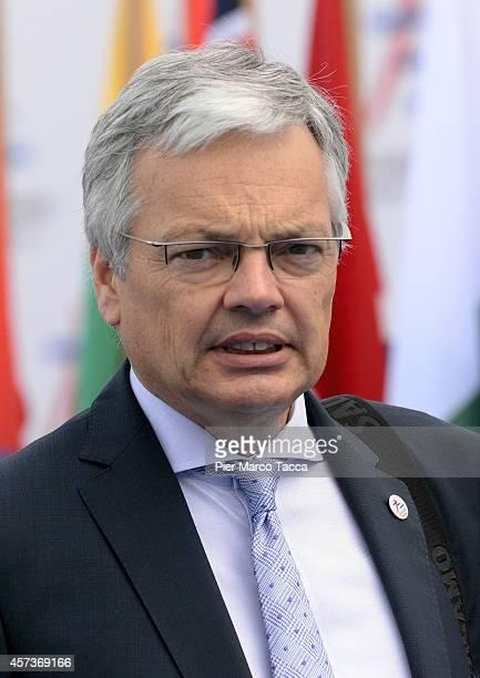Prime Minister of Belgium Didier Reynders during the10 ASEM Summit with 50 Heads Of State From Europe And Asia on October 17 2014 in Milan ItalyThe...