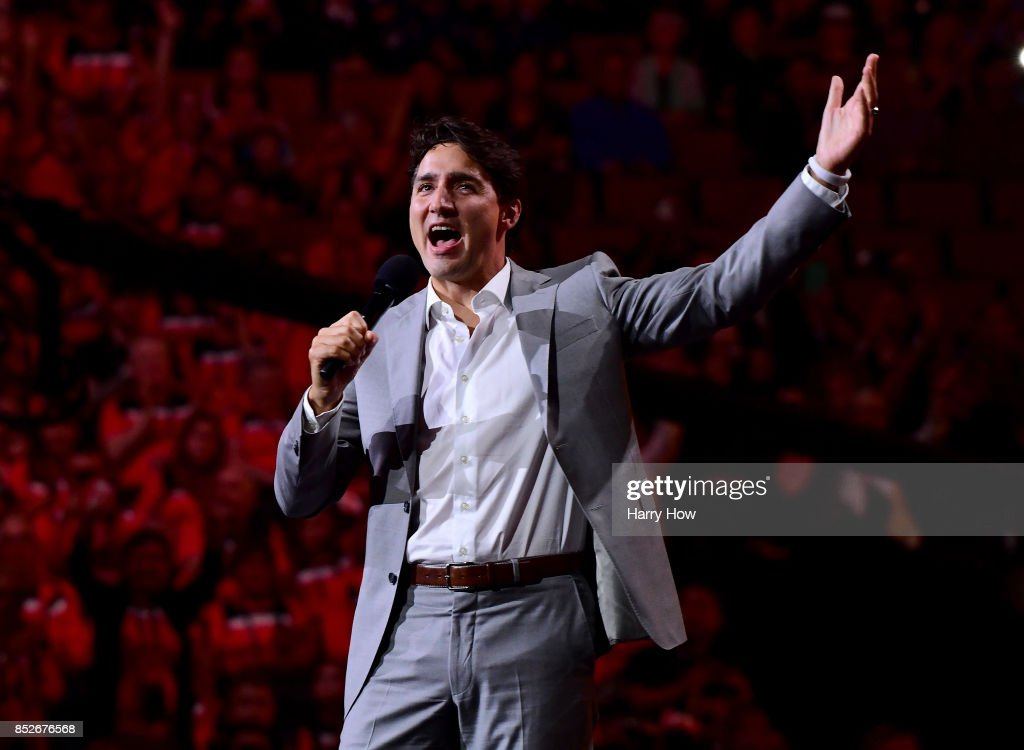 Prime Minister of Canada, Justin Trudeau, speaks during the opening ceremony of the 2017 Invictus Games at Air Canada Centre on September 23, 2017 in Toronto, Canada.The Invictus Games is the only international sporting event for wounded, injured and sick servicemen and Women (WIS). This year's games will bring together 550 competitors from 17 nations.
