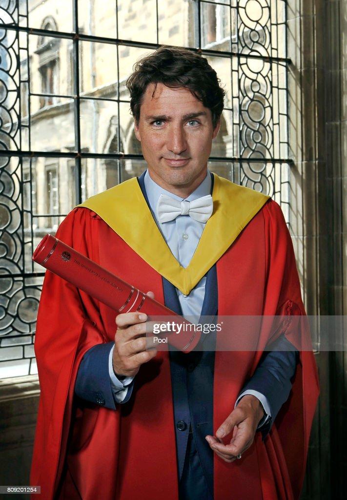 Canadian Prime Minister Justin Trudeau Receives Edinburgh Honorary Degree