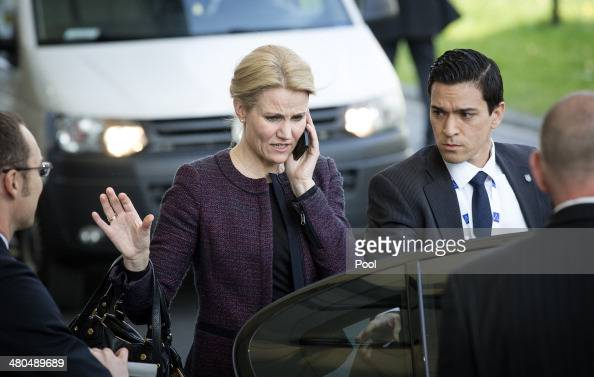 Prime Minister of Denmark Helle ThorningSchmidt departs at the conclusion of the 2014 Nuclear Security Summit on March 25 2014 in The Hague...