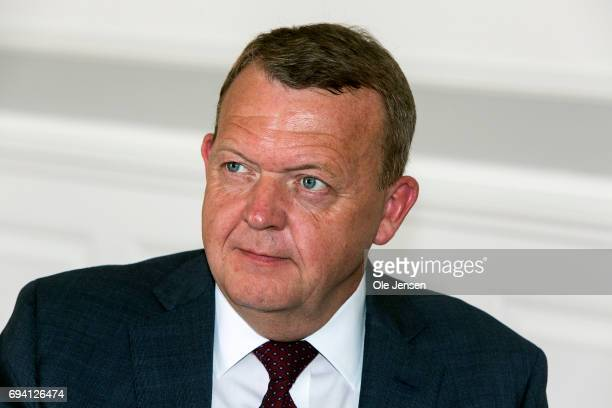 Prime Minister of Denmark Lars Loekke Rasmussen as seen during during a meeting with visiting Prime Minister of Poland Beata Szydlo in the Danish...