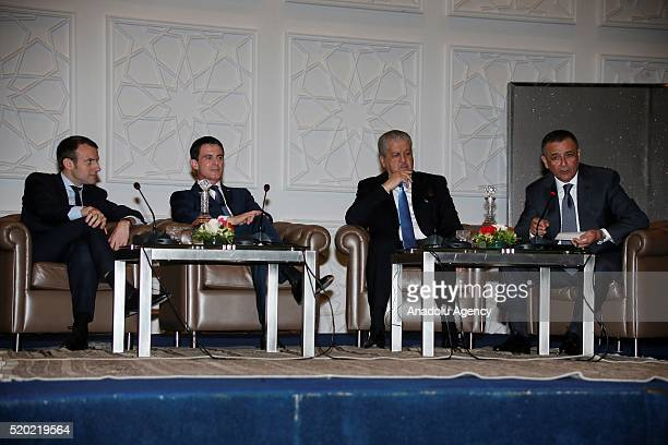 Prime Minister of France Manuel Valls Prime Minister of Algeria Abdelmalek Sellal French Minister of the Economy Finance and Industry Emmanuel Macron...