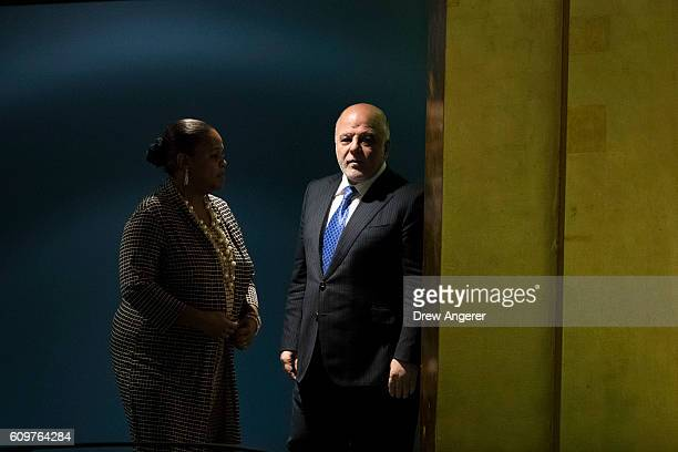 Prime Minister of Iraq Haider Al Abadi arrives to address the United Nations General Assembly at UN headquarters September 22 2016 in New York City...