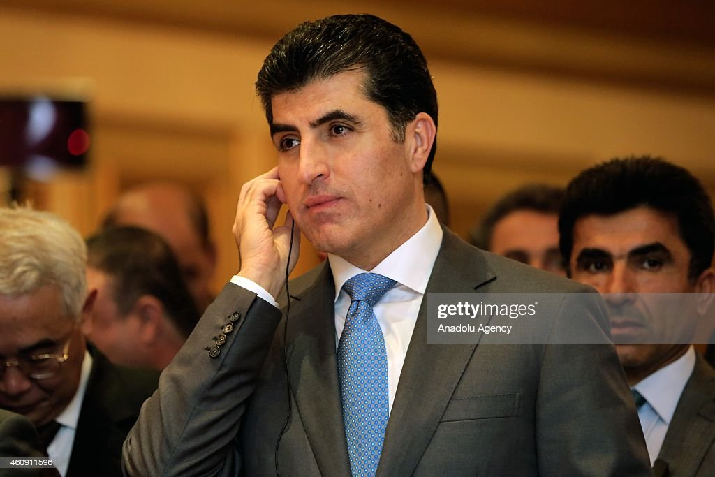 Prime Minister of Iraqi Kurdish Regional Government (KRG) gives a speech during the opening ceremony of the Consulate General of People's Republic of China in Arbil, Kurdish Regional Government, Iraq on December 30, 2014.