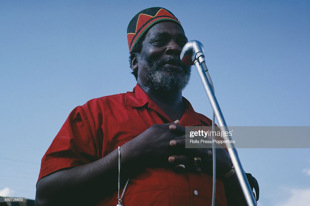 Prime Minister of Kenya, <a gi-track='captionPersonalityLinkClicked' href=/galleries/search?phrase=Jomo+Kenyatta&family=editorial&specificpeople=211508 ng-click='$event.stopPropagation()'>Jomo Kenyatta</a> (c.1889-1978) speaks at a political rally in June 1963 after his KANU party won the election in May 1963.
