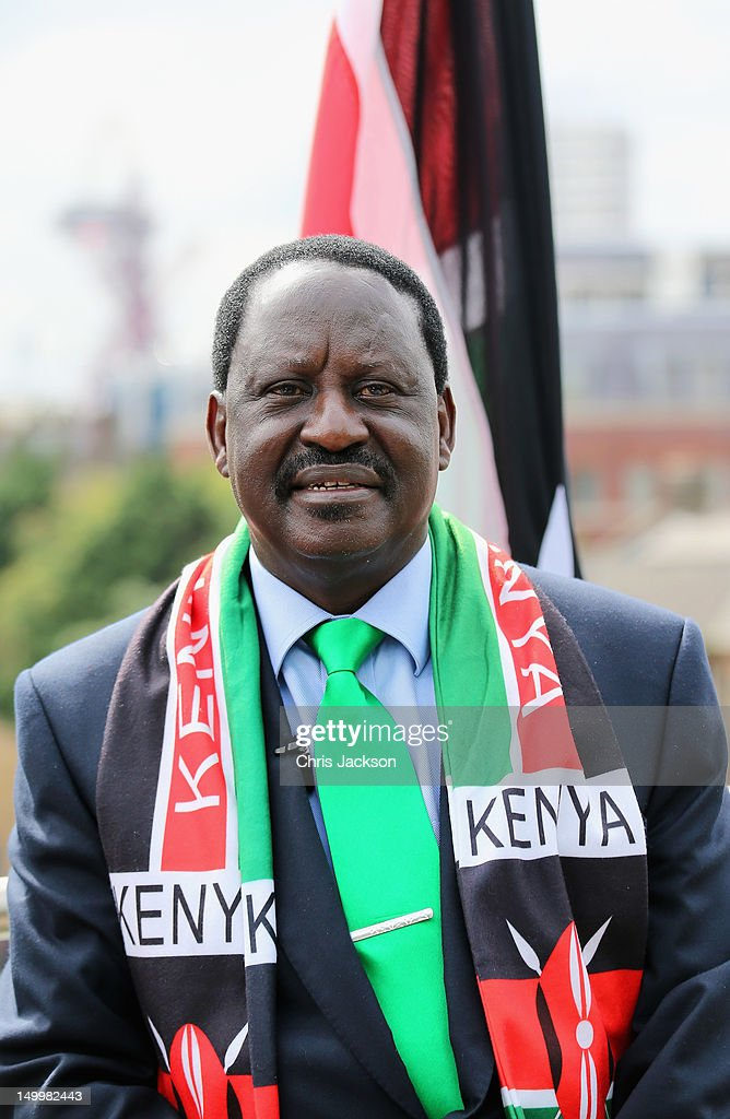 Prime Minister of Kenya, <a gi-track='captionPersonalityLinkClicked' href=/galleries/search?phrase=Raila+Odinga&family=editorial&specificpeople=2147626 ng-click='$event.stopPropagation()'>Raila Odinga</a> visits Kenya National House on August 8, 2012 in London, England.