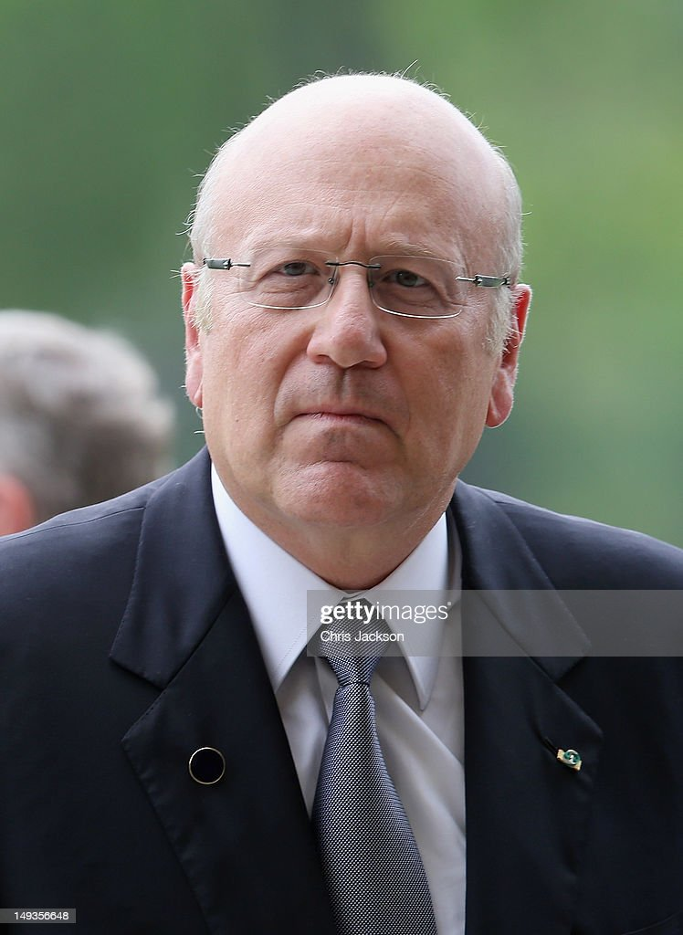 Prime Minister of Lebanon <a gi-track='captionPersonalityLinkClicked' href=/galleries/search?phrase=Najib+Mikati&family=editorial&specificpeople=2466031 ng-click='$event.stopPropagation()'>Najib Mikati</a> arrives for a reception at Buckingham Palace for Heads of State and Government attending the Olympics Opening Ceremony at Buckingham Palace on July 27, 2012 in London, England.