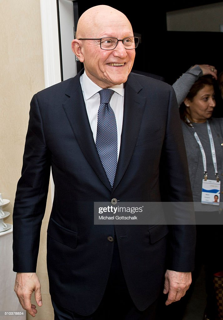 Prime Minister of Lebanon, <a gi-track='captionPersonalityLinkClicked' href=/galleries/search?phrase=Tammam+Salam&family=editorial&specificpeople=5769198 ng-click='$event.stopPropagation()'>Tammam Salam</a>, attends Munich Security Conference 2016 on February 13, 2016 in Munich, Germany.