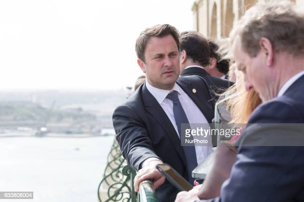Prime Minister of Luxembourg Xavier Bettel during the meeting at Upper Barrakka Gardens during the European Council Summit in Valletta Malta on 3...